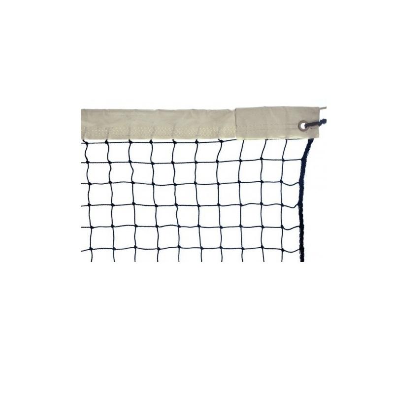 Сетка для большого тенниса Ellada Д=2,8мм черная (1,05х12,6) обшитая с 4-х сторон капрон, узловая, с тросом УТ1603