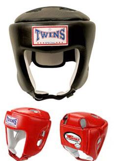 Шлем боксерский (кожа) Twins HGL-4