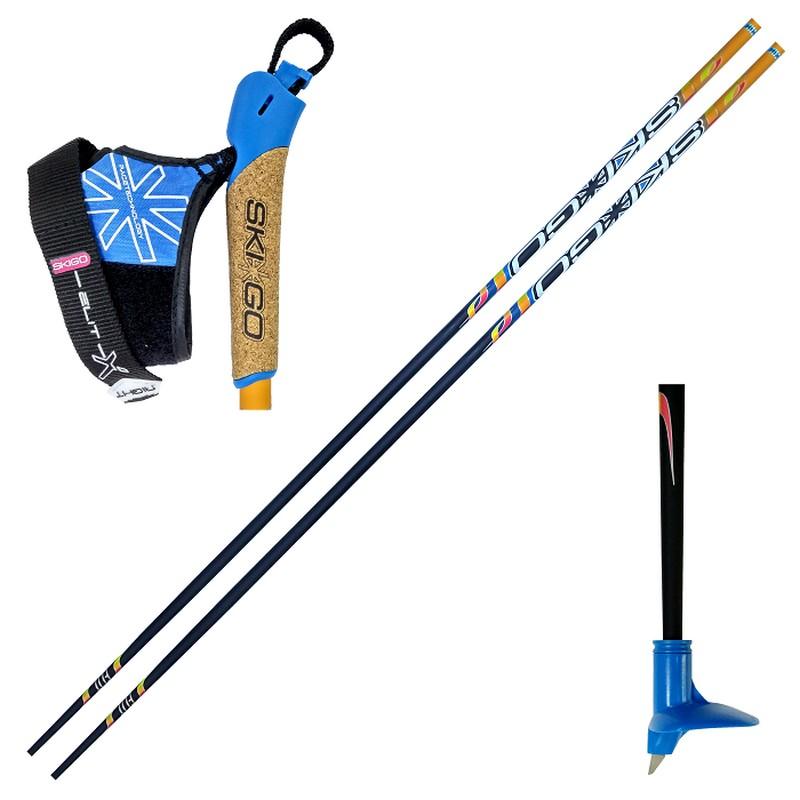Купить Лыжные палки Skigo 24 Elit Карбон 100% оранжевый,