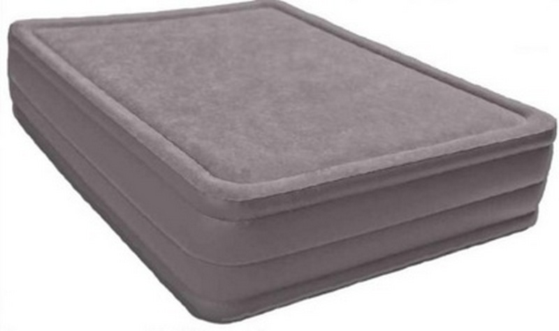 Кровать Foam Top со насосом 220В 152х203х51см Intex 67954 кровать intex comfort plush со встроенным насосом 220в intex 67766