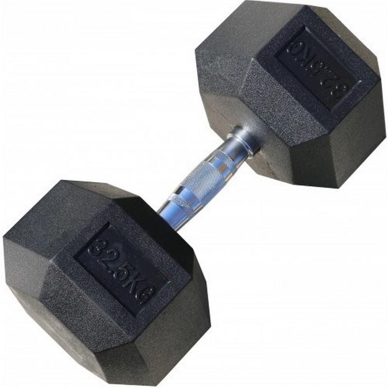 Гантель гексагональная обрезиненная 32,5 кг Iron King CR 75 цена