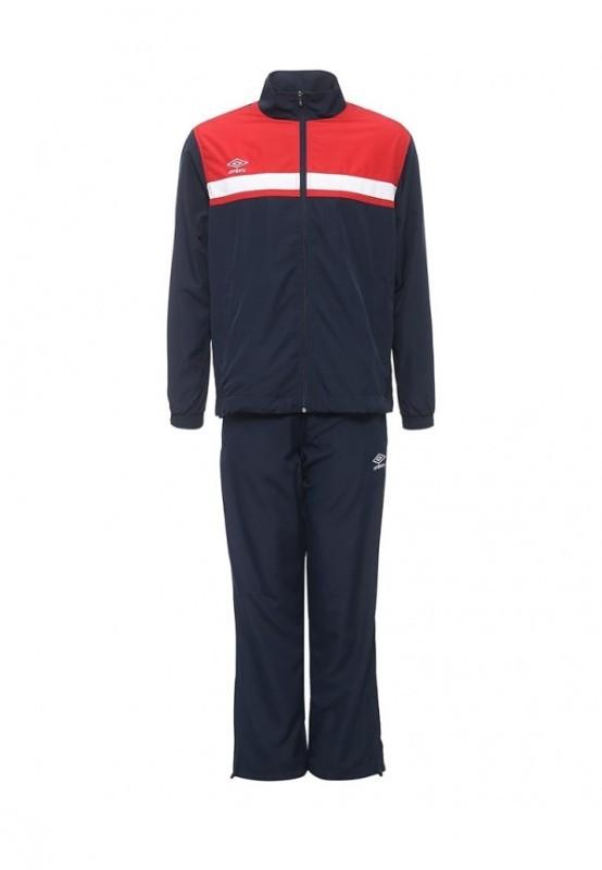 Костюм спортивный Umbro Smart Lined Suit мужской 462016 (921) т.син/красн/бел.