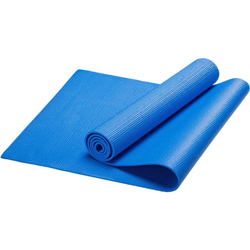 Купить Коврик для йоги PVC, 173x61x0,3 см HKEM112-03-BLUE синий, NoBrand