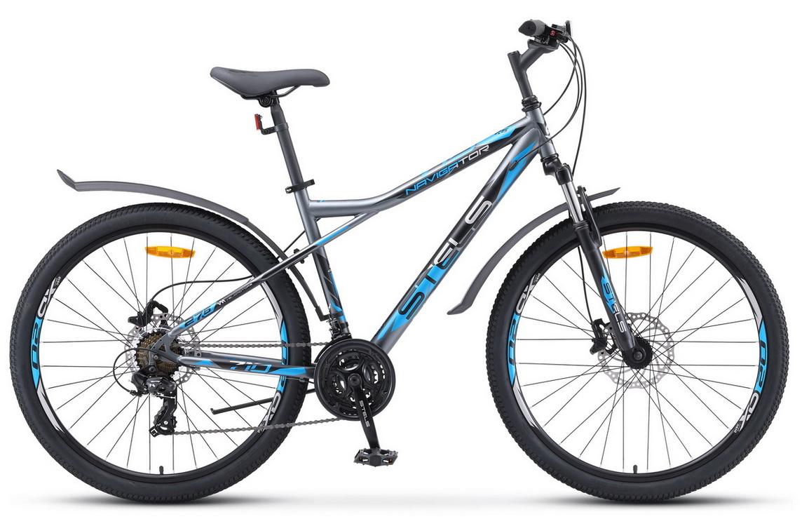 Купить Велосипед Stels Navigator 710 D V010 Серый/Чёрный/Серебристый 27.5Ø 2020 (LU093865),