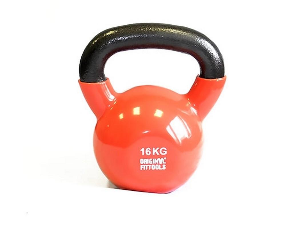 Гиря 16 кг Original Fit.Tools обрезиненная цветная FT-VKB-16