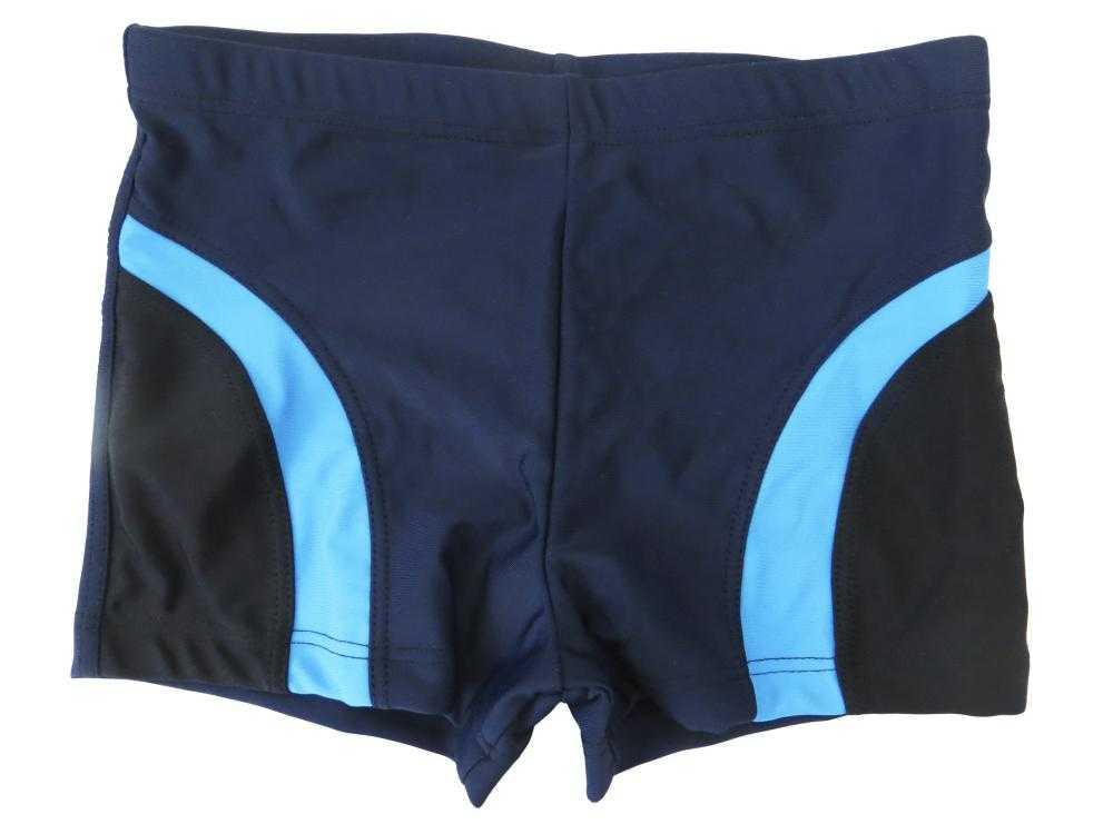 Плавки-шорты Atemi SM10-Q мужские для плавания, однотоные со вставками т.син/чер/гол