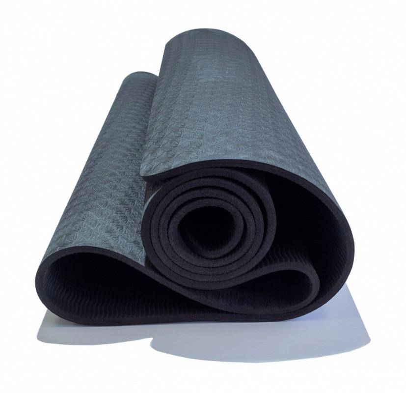 Коврик для йоги Original Fit.Tools 6 мм FT-YGM-06TPE-1830-BK черный