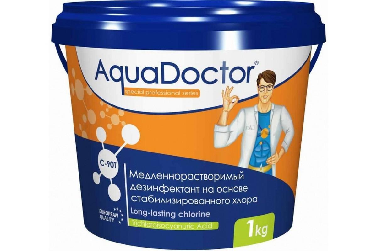 Купить ХЛОР, 1кг ведро, табл.200гр, медленнорастворимый, на основе 90% активного хлора AquaDoctor AQ23752 (C90T-1-20),