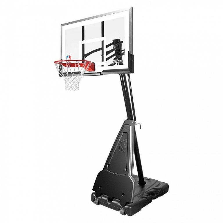 Баскетбольная стойка мобильная, акрил Spalding Portable - 60 quot; Acrylic 71564CN spalding баскетбольная стойка spalding 2013 highlight 42 acrylic system