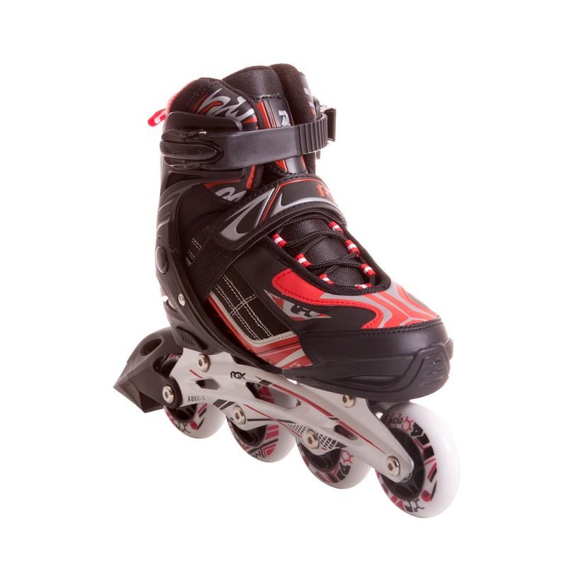 Купить Раздвижные роликовые коньки RGX Wind black/red,