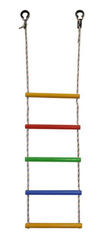 Лестница веревочная 5 перекладин радуга Формула здоровья ЛВ5-3В