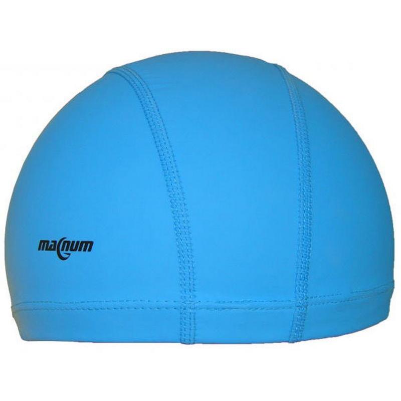 Шапочка для плавания силиконовая SR Синяя PU 002 фото