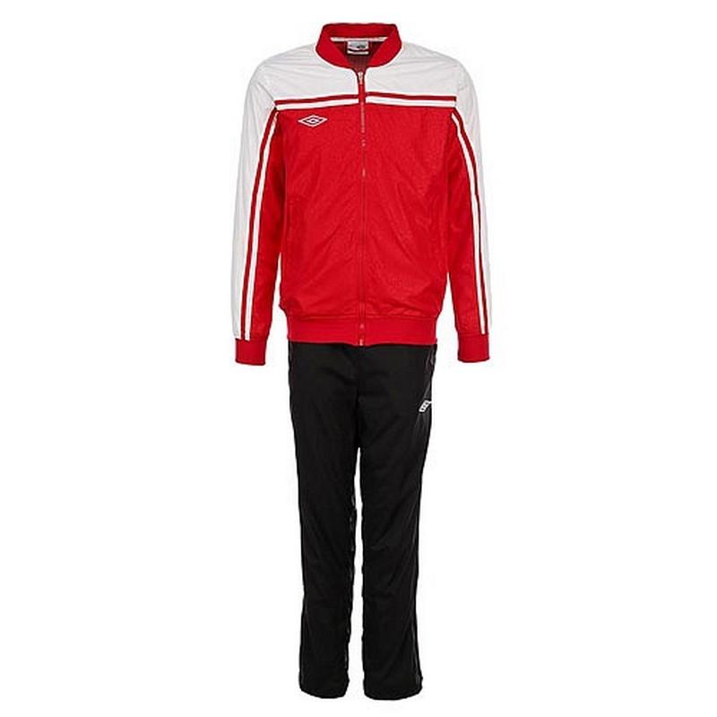 Костюм спортивный Umbro Stadium lined Suit мужской 460213 (261) красн/чер/бел.