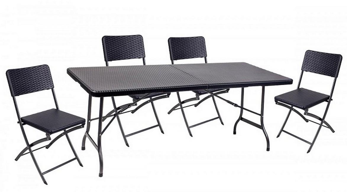 Набор мебели складной GoGarden Rimini 50360 черный