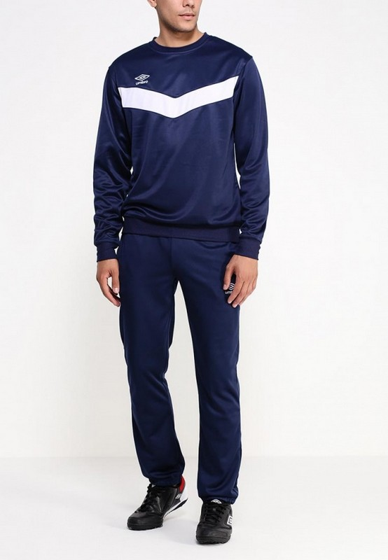 Костюм спортивный Umbro Unity Poly Suit мужской 353115 (991) т.син/бел.