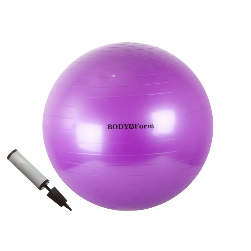 Набор 85 см (мяч гимнастический + насос) Body Form BF-GBP01 фиолетовый