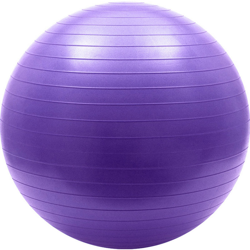 Мяч гимнастический Anti-Burst 55 см FBA-55-4, фиолетовый фото