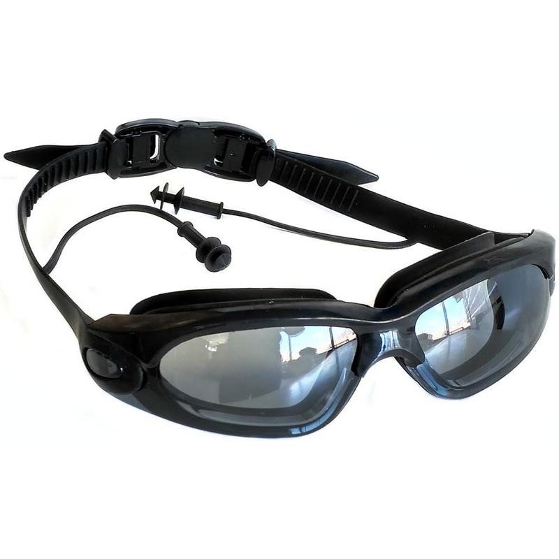 Купить Очки для плавания R18168 черные, NoBrand