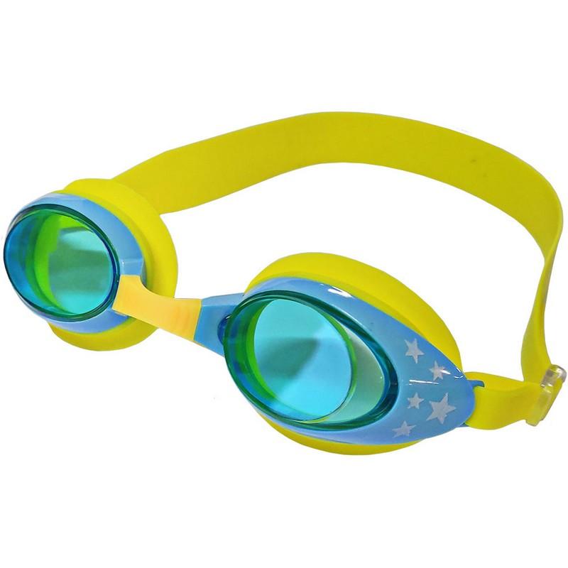 Купить Очки для плавания ТПУ переносица B31523-5 Желтыйголубой, NoBrand
