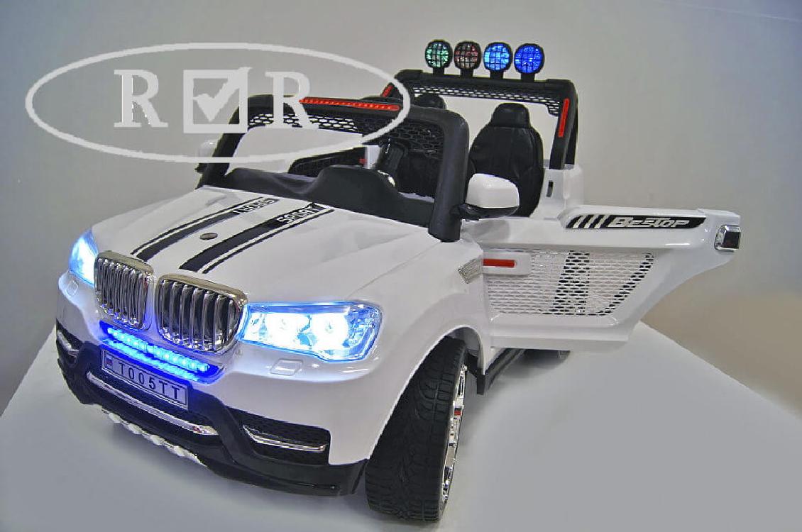 Электромобиль River-Toys BMW T005TT белый с ДУ (лицензия) 4x4