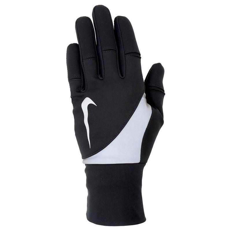 Перчатки для бега Nike Women'S Shield Run Gloves L Black nike перчатки для фитнеса женские nike