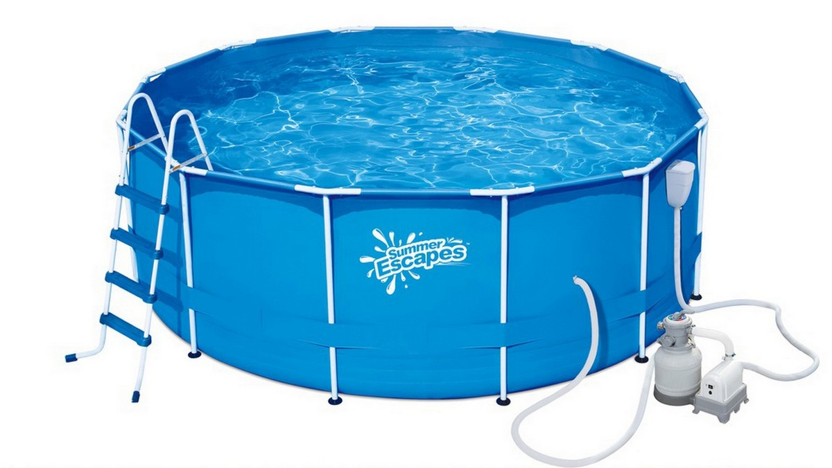 Купить Каркасный бассейн круглый 396х132см+насос-фильтр SummerEscapes Polygroup Р20-1352-S,