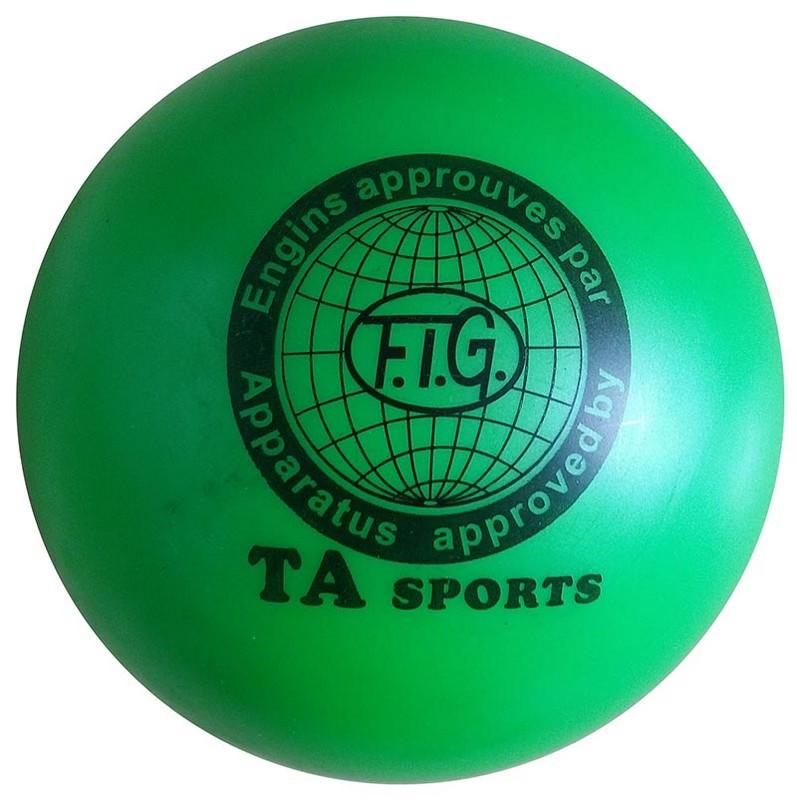 Купить Мяч для художественной гимнастики Indigo D=15 см зеленый,