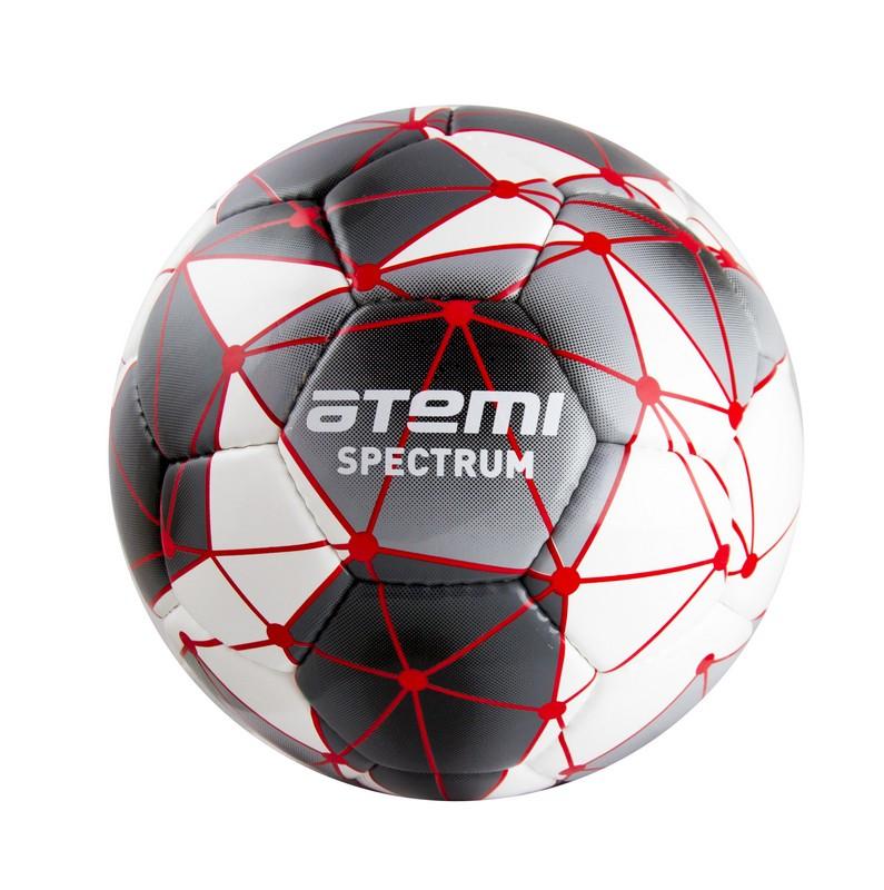 Купить Мяч футбольный Atemi Spectrum р.5 бело-серый,