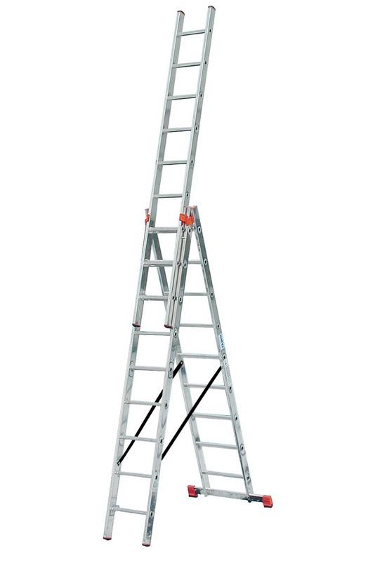 Универсальная лестница Krause MONTO TRIBILO 3х9 перекладин, 270-605 см 120601 лестница krause tribilo 121226