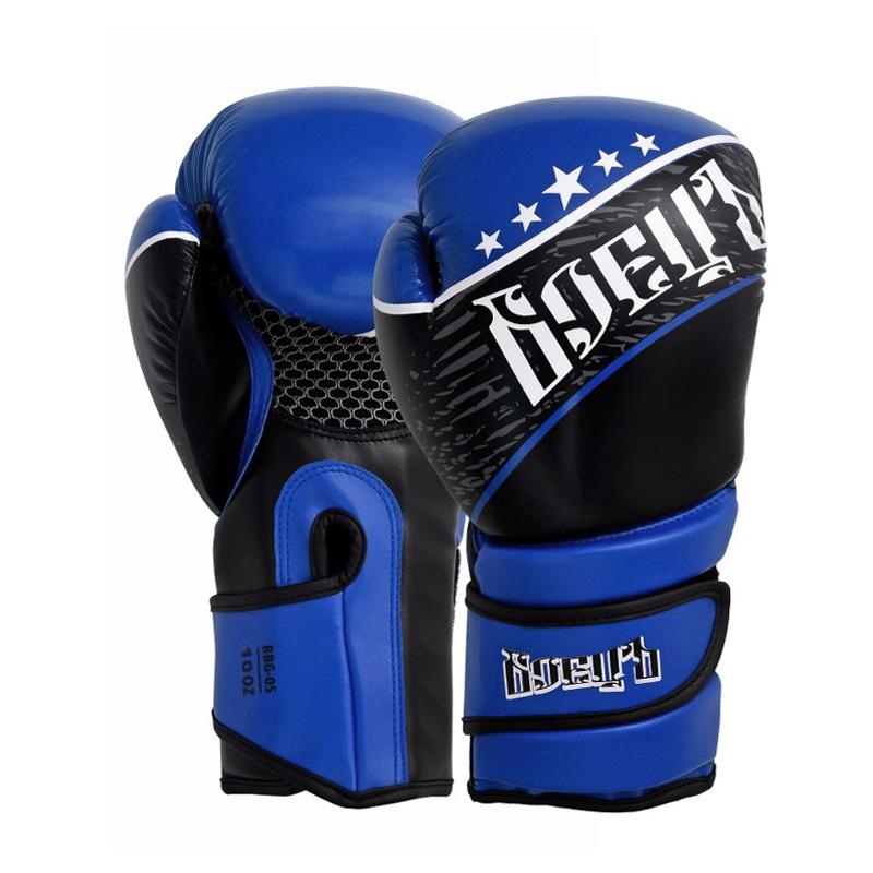 Купить Боксерские перчатки Боецъ BBG-05 Синие 12 oz,