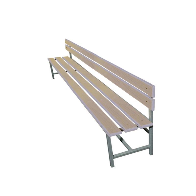 Купить Скамейка для раздевалки со спинкой 2000 мм сиденье из фанеры Dinamika ZSO-002207,