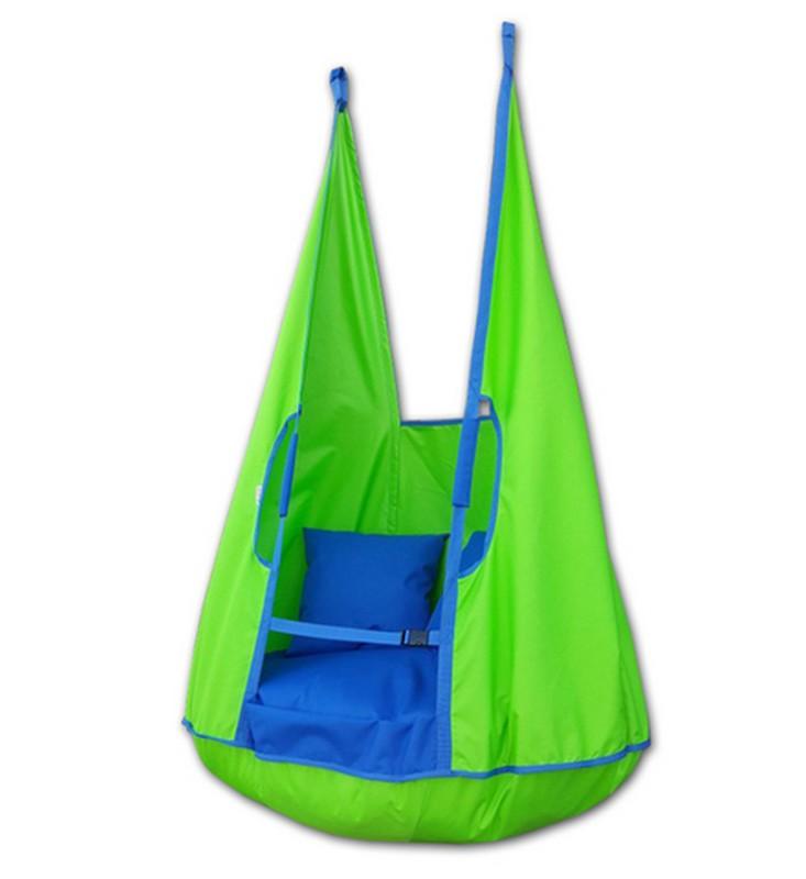 Качели-гамак Belon Ка-002 с подушками. салатовый/василек