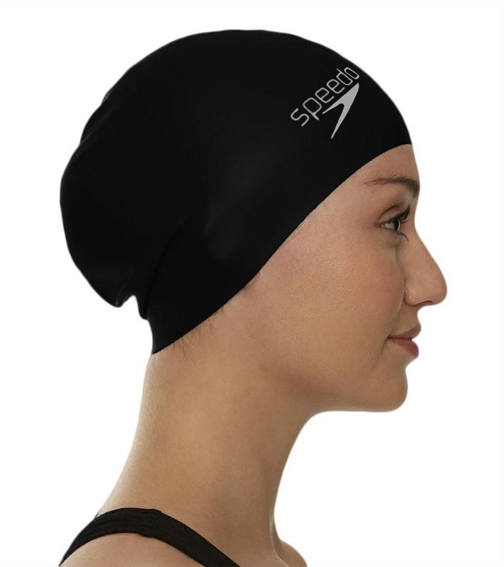 Купить Шапочка для плавания Speedo Long Hair Cap черный,