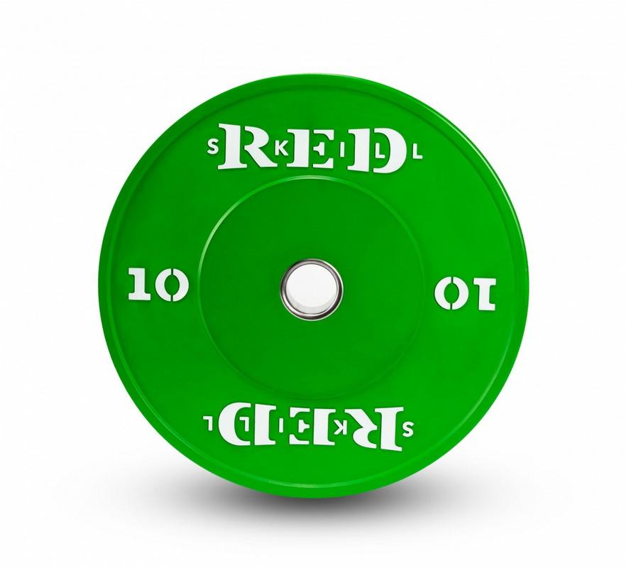 Купить Диск бамперный цветной RED Skill 10 кг,