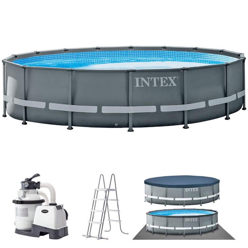 Купить Каркасный бассейн круглый 488х122cм Intex Ultra XTR Frame 26326,