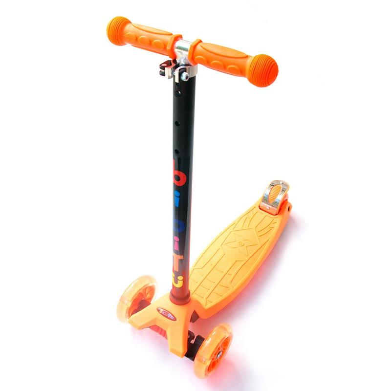 Купить Самокат детский BiBiTu тротинетка 3-х колесный CAVY SKL-07-OR оранжевый,
