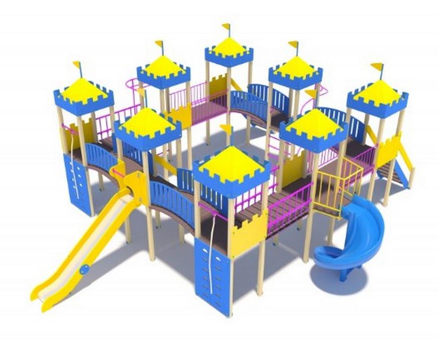 Купить Детскийигровойкомплекс МАФ СитиН-2000(винтовойскат),Н-1500 ДИО13070,