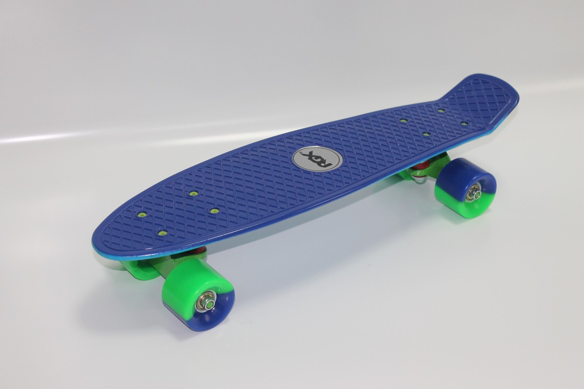 Мини-круизер RGX PNB-09 blue/turquoise скейтборд rgx small 2