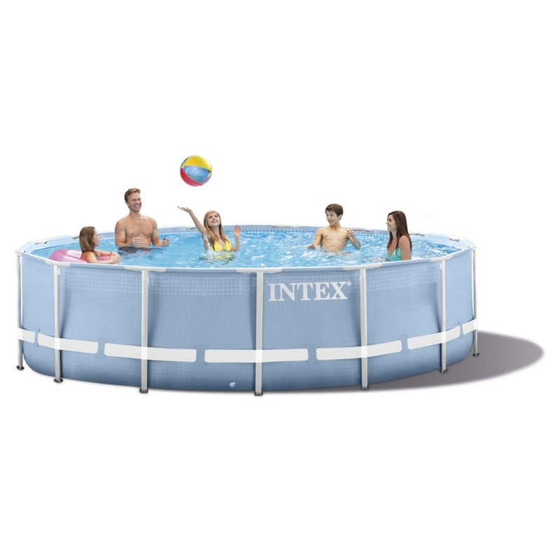 Бассейн каркасный на опорах 305х76 см Intex 28702 intex intex каркасный бассейн с металлическим ободком 366х76 см