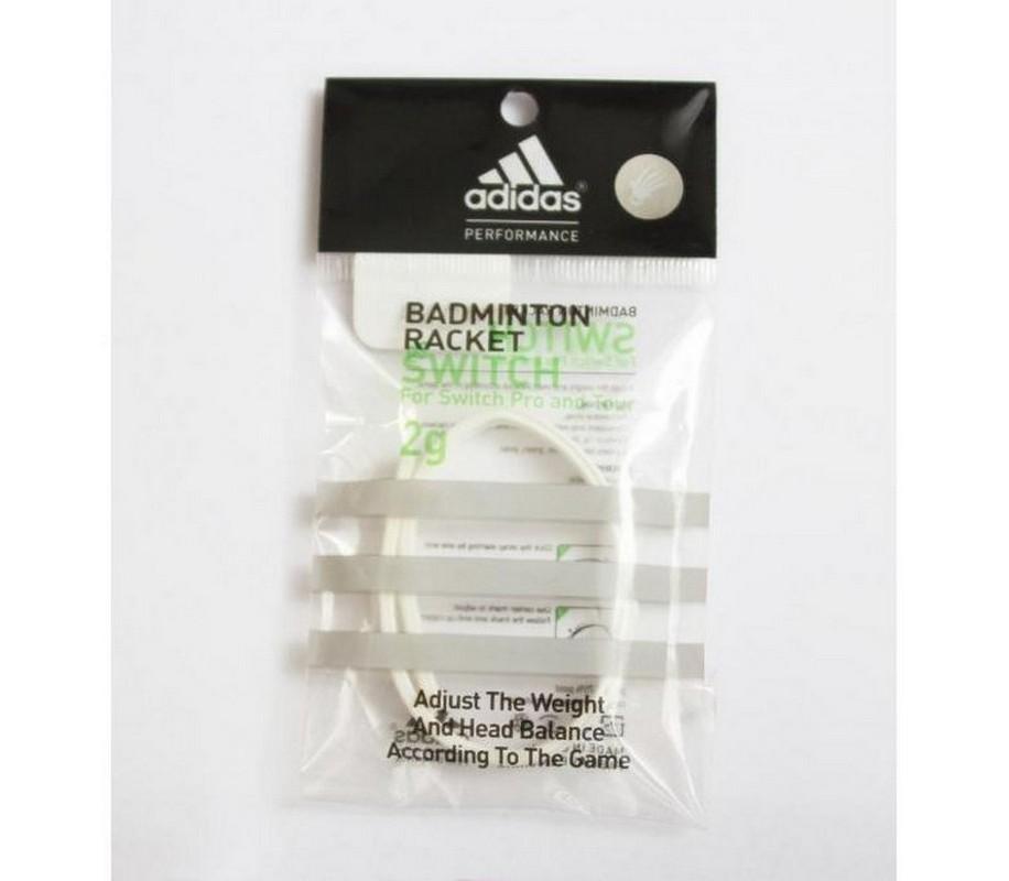 Утяжелитель Adidas для ракетки Switch весом 2 г, белый