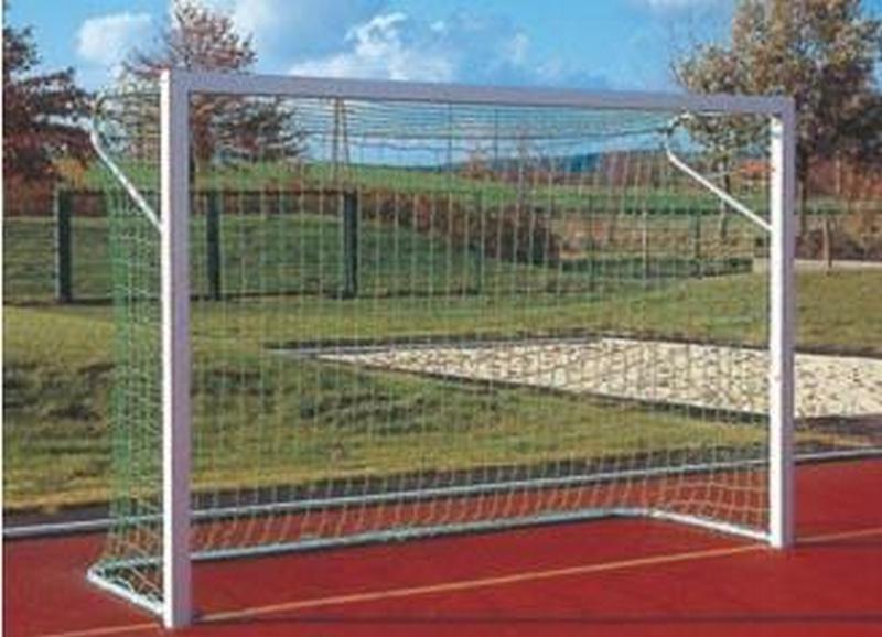 Купить Ворота футбольные 5х2 м алюм., алюминиевые кольца с подпорками для сетки Haspo 924-130,