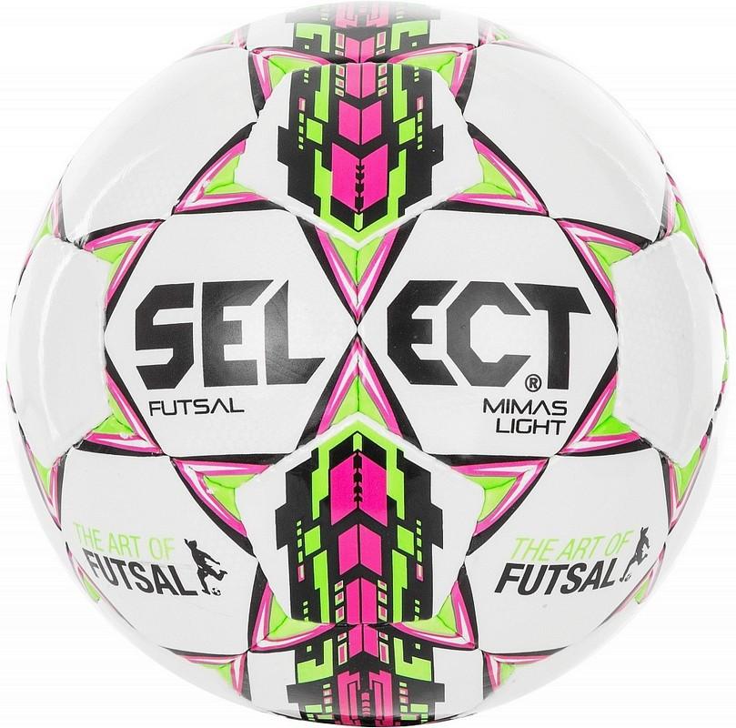 Мяч футзальный Select Futsal Mimas облегченный 852613-004 бел/роз/зел/чер, мяч футзальный select futsal talento 11 852616 049 р 3