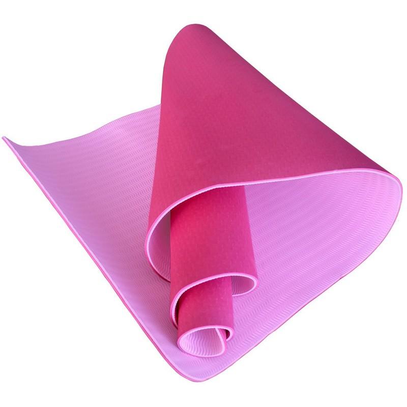 Купить Коврик для йоги Sportex ТПЕ 183х61х0,6 см TPE6-A розовыйсветло розовый (B34416),