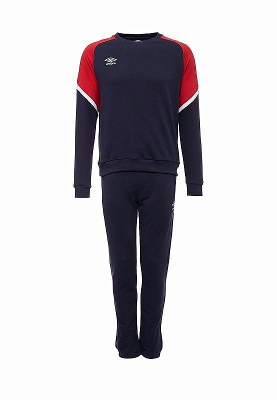 Костюм спортивный Umbro Avante Cotton Suit 350117 (921) т.син/красн/бел.
