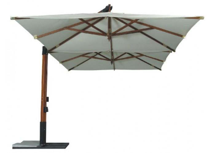 Зонт cадовый двойной бежевый GardenWay SLHU002