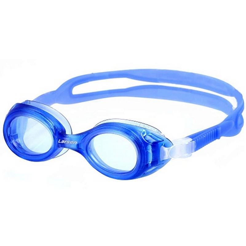 Купить Очки для плавания детские Larsen DS7 синий,
