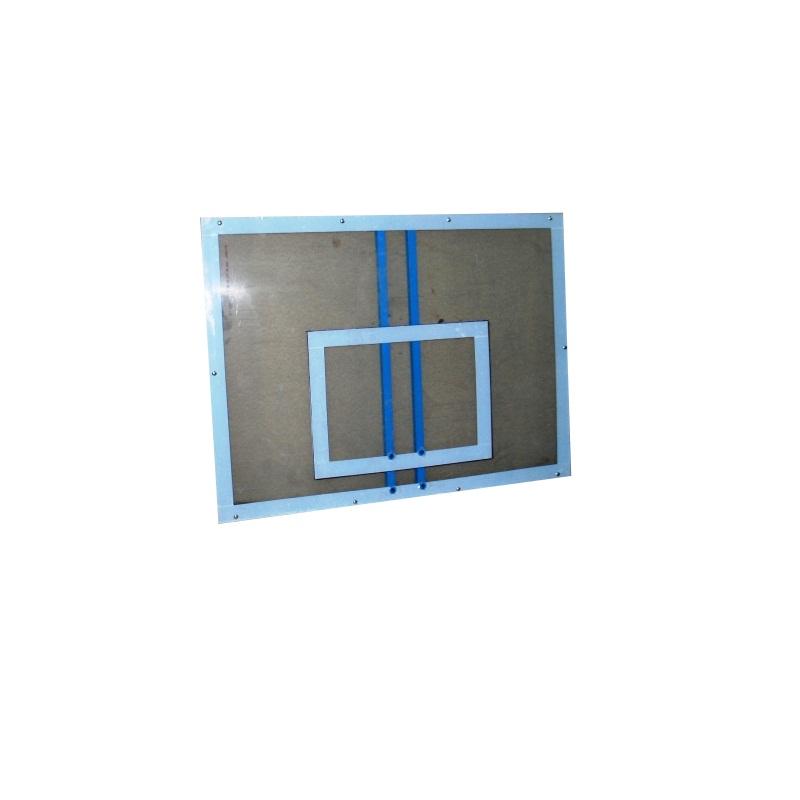 Купить Щит баскетбольный монолитный поликарбонат 10мм, с основанием, 120x90см Ellada М189,