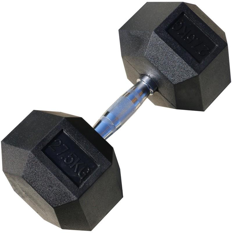 Гантель гексагональная обрезиненная Iron King 27,5 кг цена