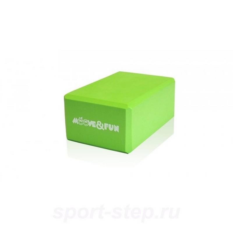 Блок для занятий йогой Moove Fun светло-зеленый MF-BRICK-BLOCK цена
