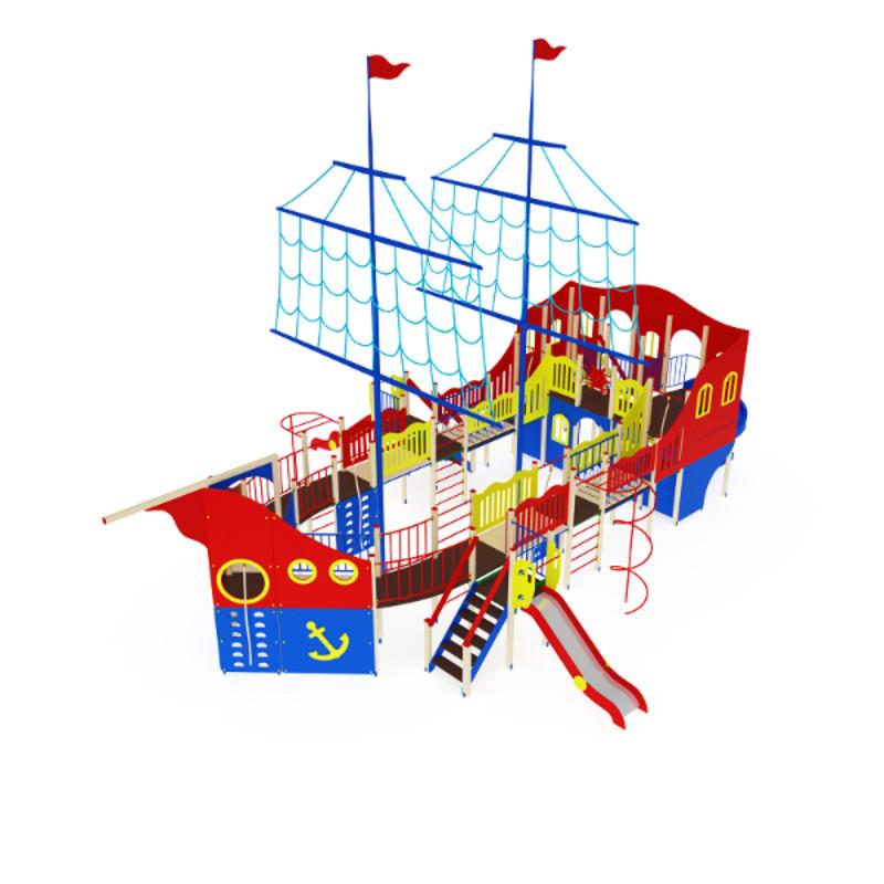 Купить Детский игровой ко мплекс Флагман МАФ 1560х1130х950 см Дик1303,